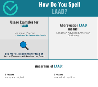 Correct spelling for LAAD