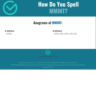 Correct spelling for MMINT