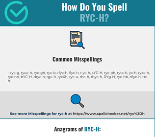 Correct spelling for RYC-H