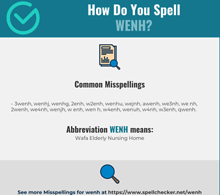 Correct spelling for WENH