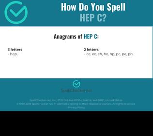 Correct spelling for HEP C