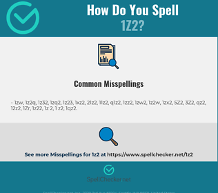 Correct spelling for 1Z2