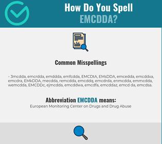 Correct spelling for EMCDDA
