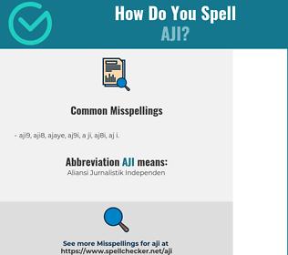 Correct spelling for AJI