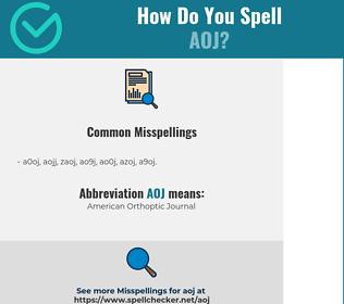 Correct spelling for AOJ