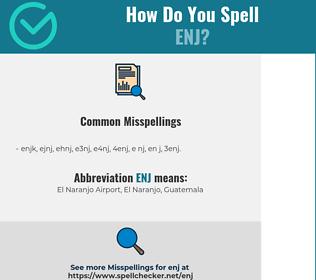 Correct spelling for ENJ