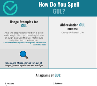 Correct spelling for GUL