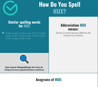 Correct spelling for HUX