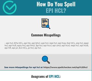 Correct spelling for EPI HCL