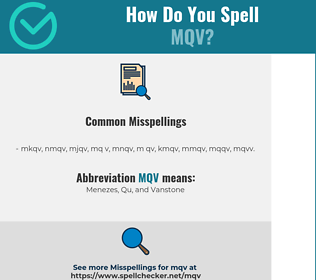 Correct spelling for MQV