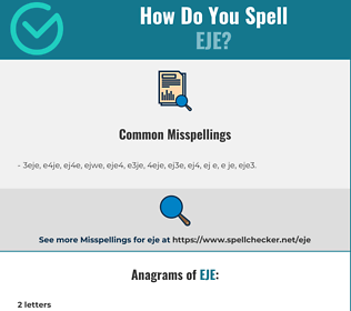 Correct spelling for EJE