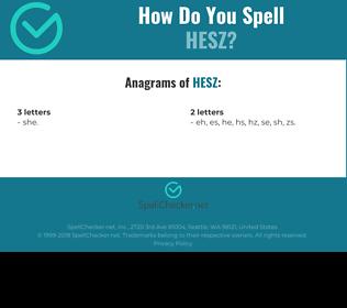 Correct spelling for HESZ