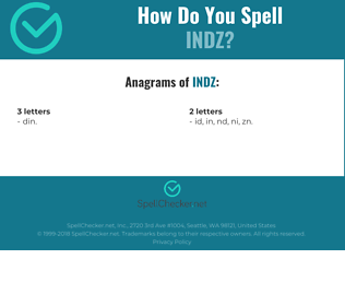Correct spelling for INDZ