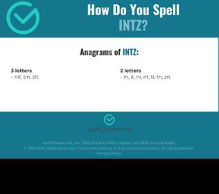 Correct spelling for INTZ