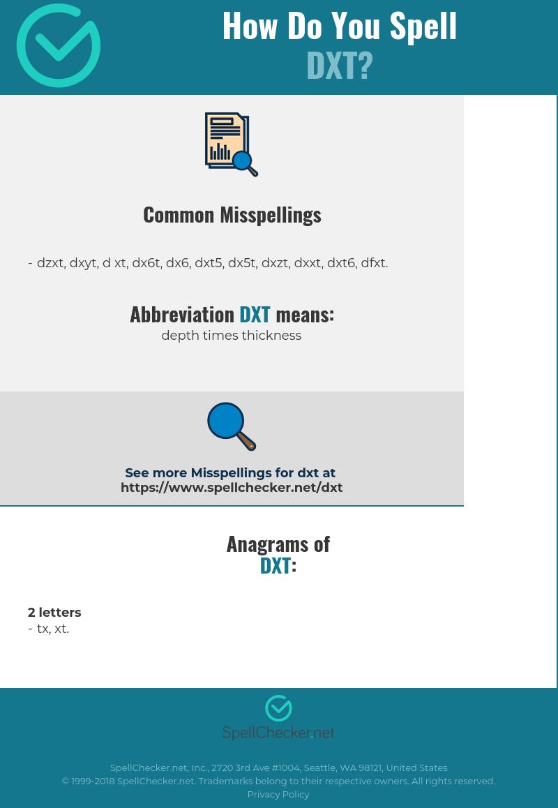 Correct spelling for DXT [Infographic]   Spellchecker net