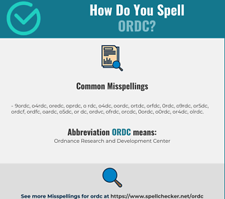 Correct spelling for ORDC
