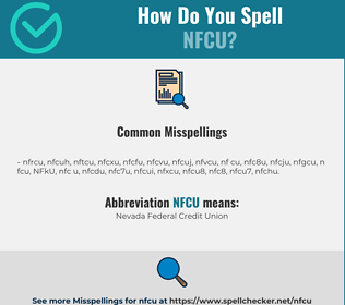 Correct spelling for NFCU