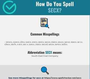 Correct spelling for SECX