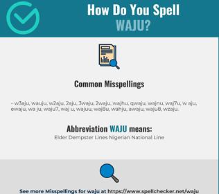 Correct spelling for WAJU