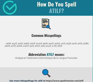 Correct spelling for ATILF