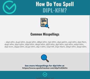 Correct spelling for Dipl-Kfm