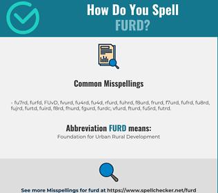 Correct spelling for FURD