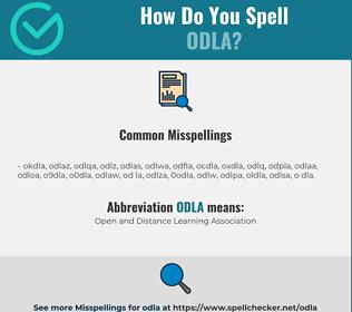 Correct spelling for ODLA