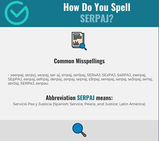 Correct spelling for SERPAJ
