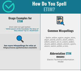 Correct spelling for etim