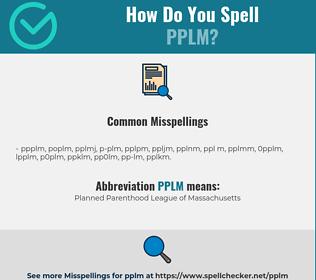 Correct spelling for PPLM