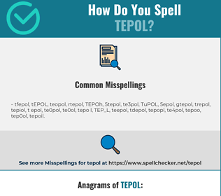Correct spelling for TEPOL