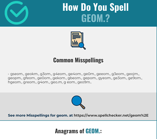 Correct spelling for geom.