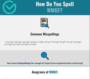Correct spelling for WMGF