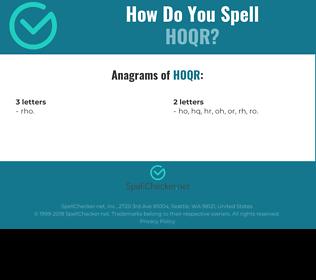 Correct spelling for HOQR