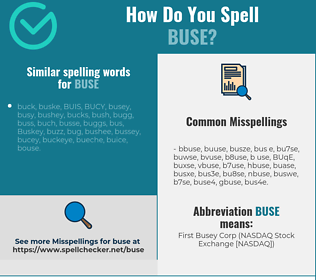 Correct spelling for BUSE