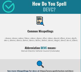 Correct spelling for DEVC