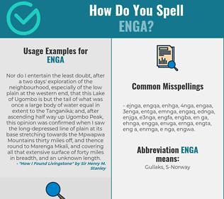 Correct spelling for ENGA