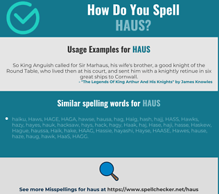 Correct spelling for HAUS