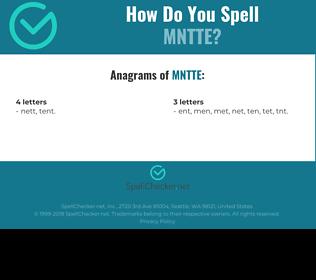 Correct spelling for MNTTE