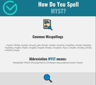 Correct spelling for MYST