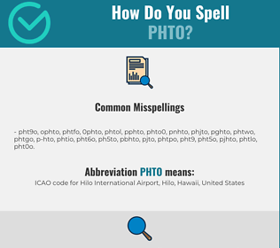 Correct spelling for PHTO