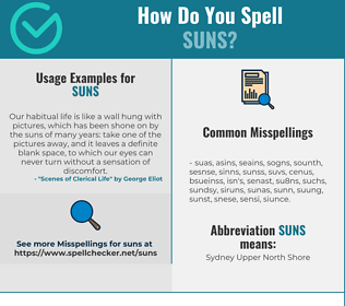 Correct spelling for SUNS
