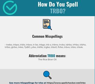 Correct spelling for TRBO