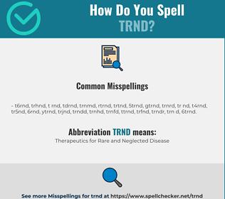 Correct spelling for TRND