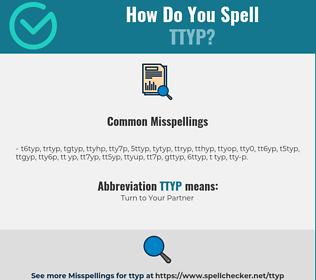 Correct spelling for TTYP