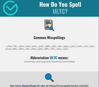Correct spelling for ULTC