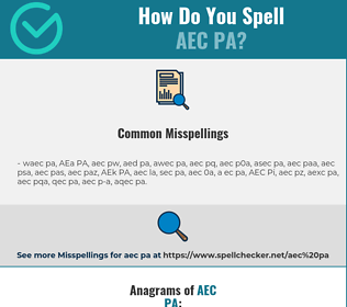 Correct spelling for AEC PA