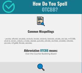 Correct spelling for OTCBB