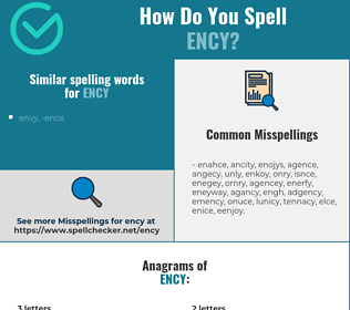 Correct spelling for ENCY