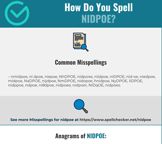 Correct spelling for NIDPOE